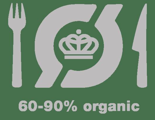 60-90% organic